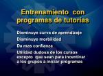 entrenamiento con programas de tutor as56