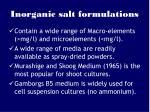 inorganic salt formulations