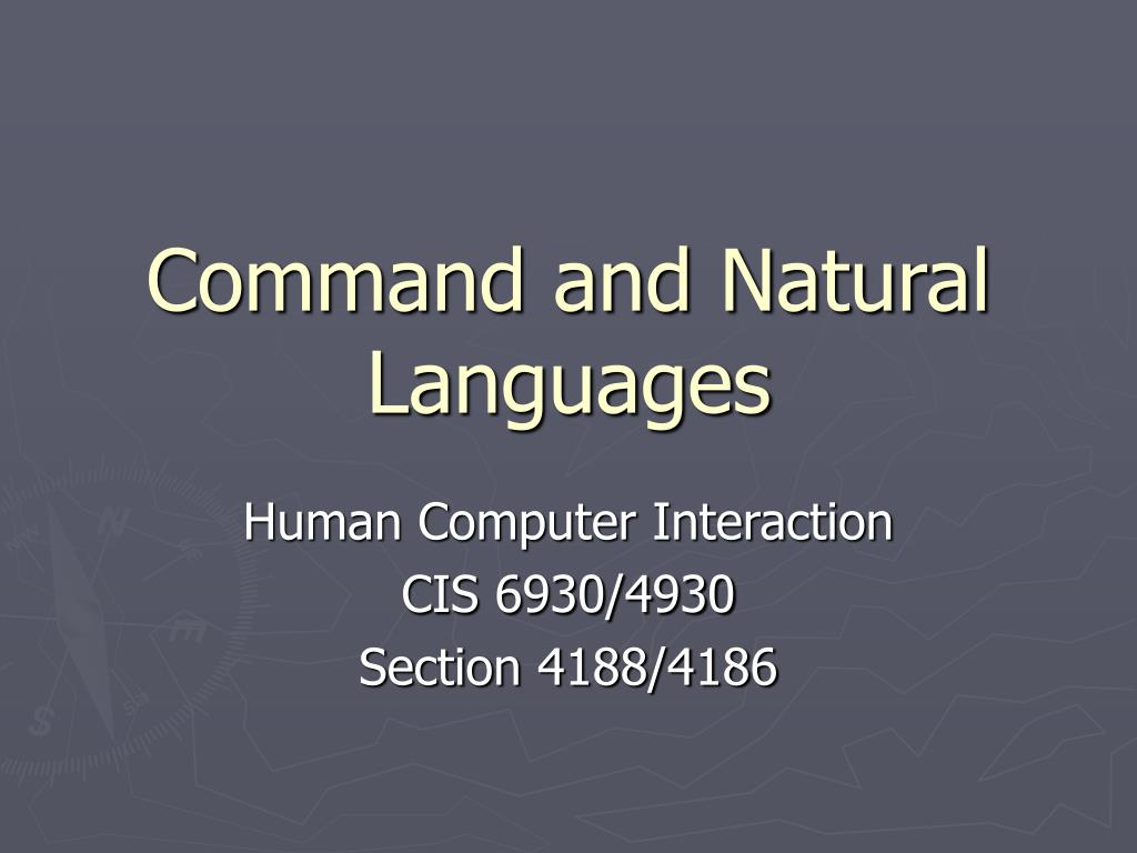 command and natural languages l.