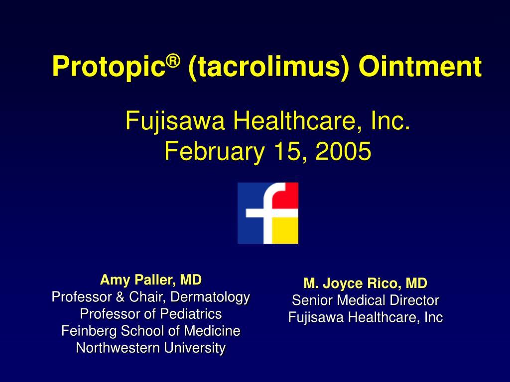 protopic tacrolimus ointment l.