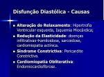 disfun o diast lica causas