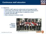continuous staff education