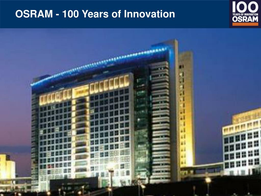 osram 100 years of innovation l.