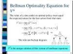 bellman optimality equation for v