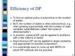 efficiency of dp