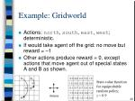 example gridworld