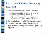 solving the bellman optimality equation36