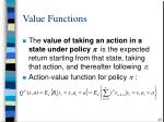 value functions23
