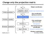 change only the projection matrix
