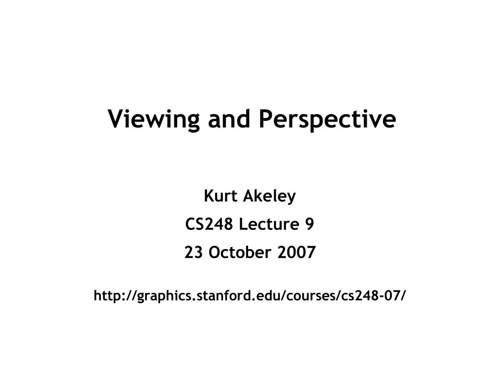 viewing and perspective l.