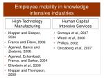 employee mobility in knowledge intensive industries