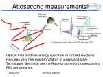 attosecond measurements