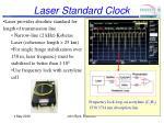 laser standard clock