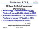 motivation lcls