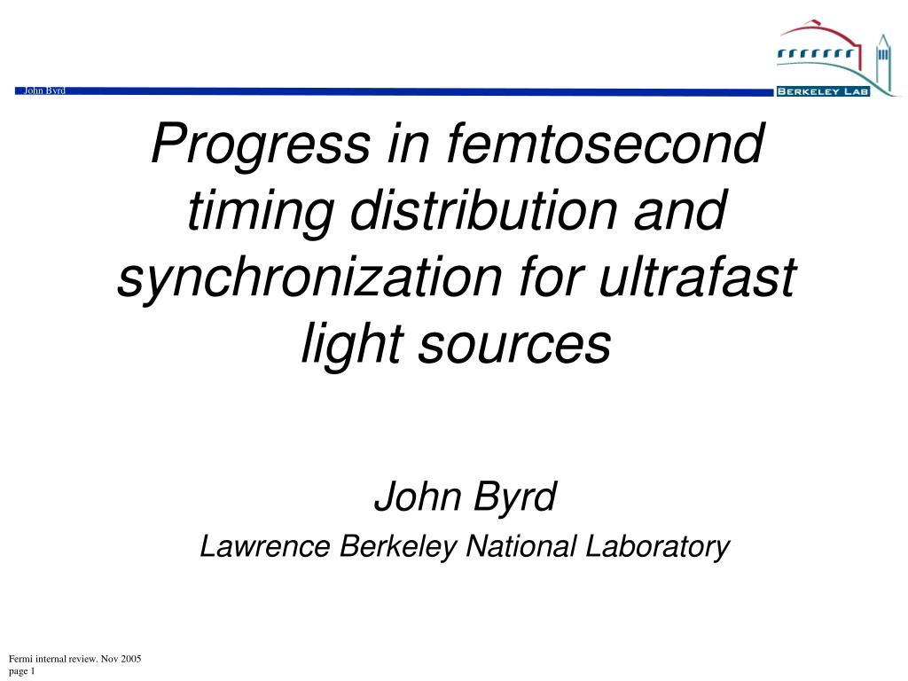 progress in femtosecond timing distribution and synchronization for ultrafast light sources l.