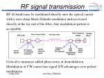 rf signal transmission