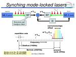 synching mode locked lasers
