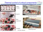 thermal control of critical components