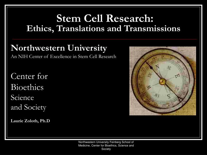 stem cell research ethics translations and transmissions n.