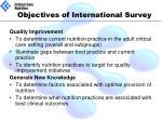 objectives of international survey