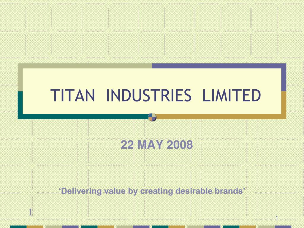 titan industries limited l.