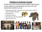 children s activity centre