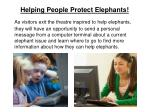 helping people protect elephants