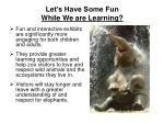 let s have some fun while we are learning