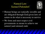 natural law samuel pufendorf