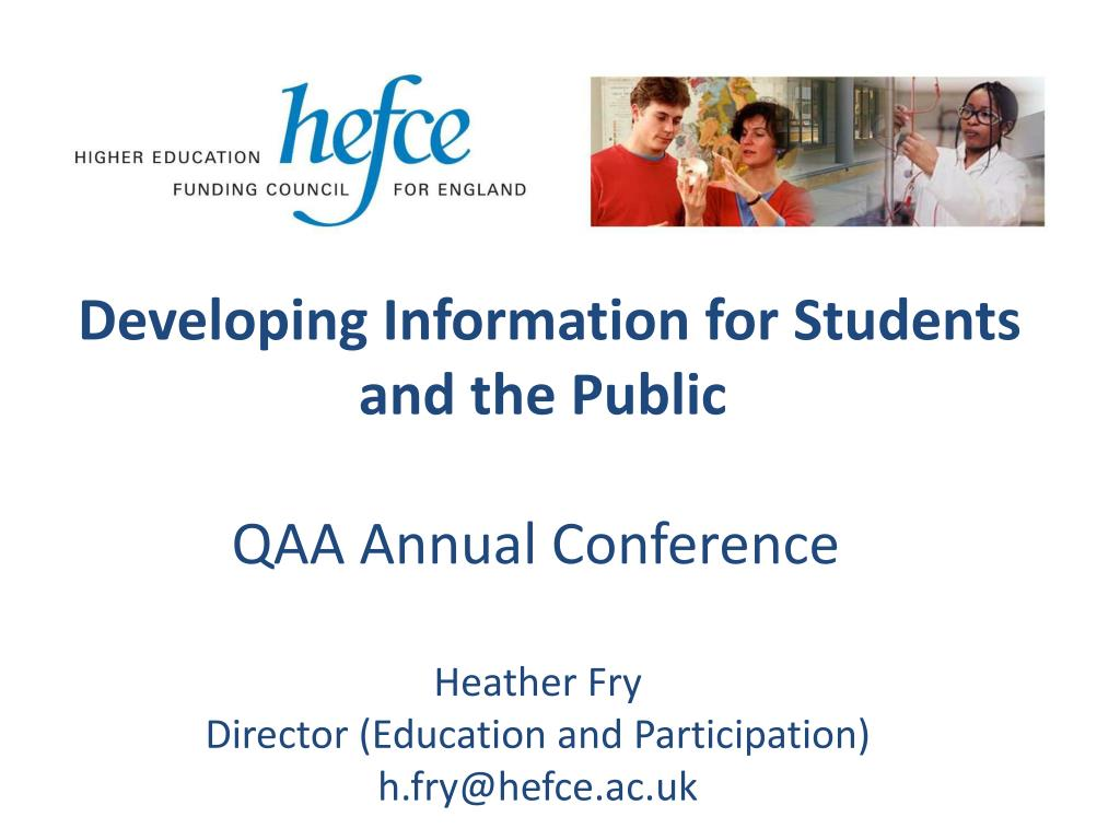 developing information for students and the public qaa annual conference l.