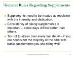 general rules regarding supplements31