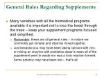general rules regarding supplements34