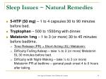 sleep issues natural remedies
