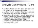 analysis main products cont