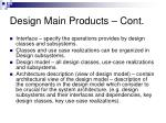 design main products cont