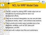 ncl for wrf model data