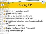 running rip