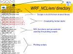 wrf ncl em directory