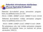 dabartinio ekvivalentumo skai iavimas present equivalent evaluation