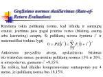 gr inimo normos skai iavimas rate of return evaluation