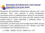 kasmetin ekvivalenti turto vert annual equivalent cost of an asset