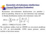 kasmetinis ekvivalentumo skai iavimas annual equivalent evaluation