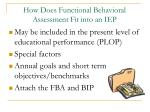 how does functional behavioral assessment fit into an iep