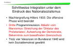 schrittweise integration unter dem eindruck des nationalsozialismus