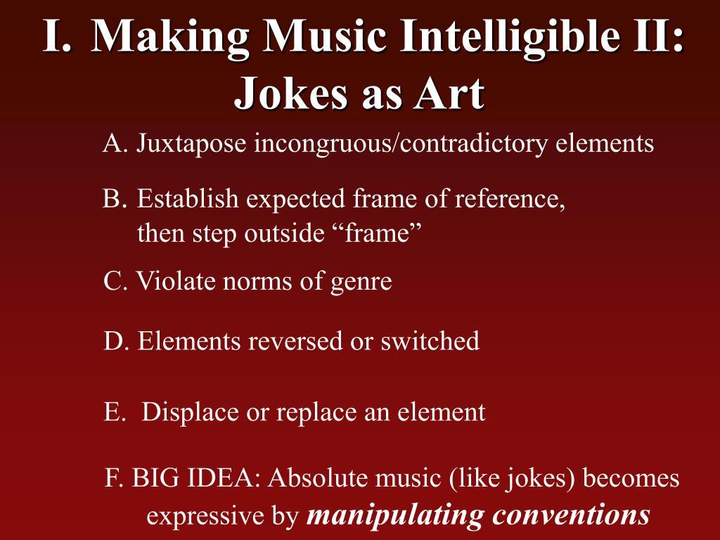 Making Music Intelligible II: