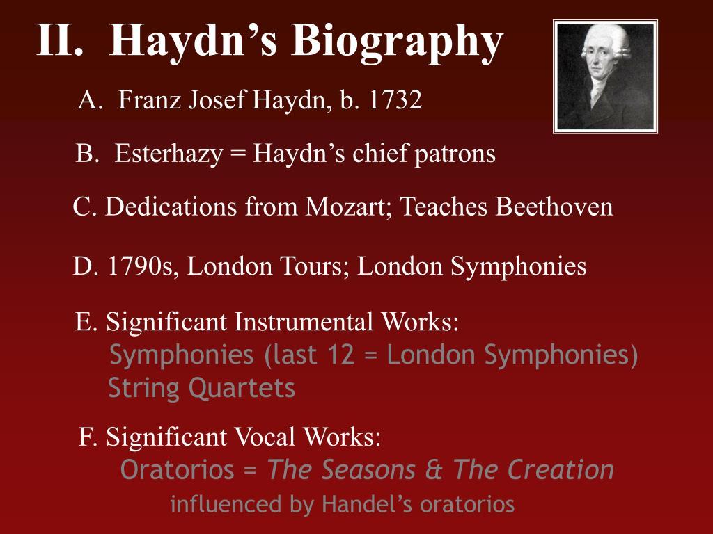 II.  Haydn's Biography