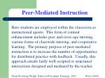 peer mediated instruction
