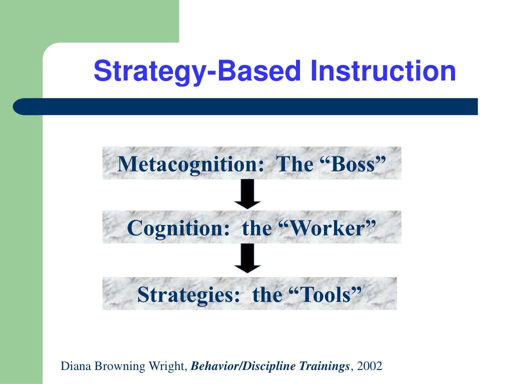 strategy based instruction l.