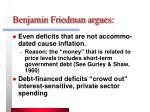benjamin friedman argues