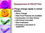 reassessment of haccp plan